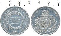 Изображение Монеты Бразилия 1000 рейс 1860 Серебро VF