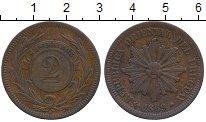 Изображение Монеты Уругвай 2 сентесимо 1869 Медь XF-