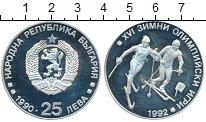 Изображение Монеты Болгария 25 лев 1990 Серебро Proof- Олимпийские игры, лы