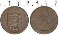 Изображение Монеты Остров Джерси 1/12 шиллинга 1966 Бронза XF Елизавета II, 900 ле