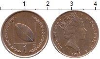 Изображение Монеты Остров Мэн 1 пенни 1996 Бронза XF Елизавета II