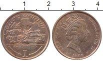 Изображение Монеты Остров Мэн 1 пенни 1988 Бронза XF