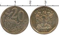 Изображение Монеты ЮАР 20 центов 1997 Латунь UNC-