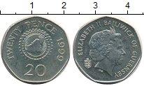 Изображение Монеты Гернси 20 пенсов 1999 Медно-никель XF
