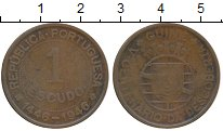 Изображение Монеты Гвинея 1 эскудо 1946 Бронза VF