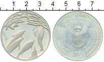 Изображение Монеты ЮАР 2 ранда 2001 Серебро Proof-