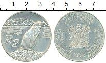 Изображение Монеты ЮАР 2 ранда 1998 Серебро Proof- Пингвин