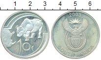 Изображение Монеты Африка ЮАР 10 рандов 2003 Серебро Proof-