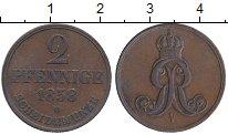 Изображение Монеты Ганновер 2 пфеннига 1858 Медь XF