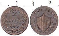 Изображение Монеты Швиц 2 раппа 1845 Медь XF