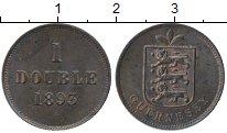 Изображение Монеты Гернси 1 дубль 1893 Бронза XF