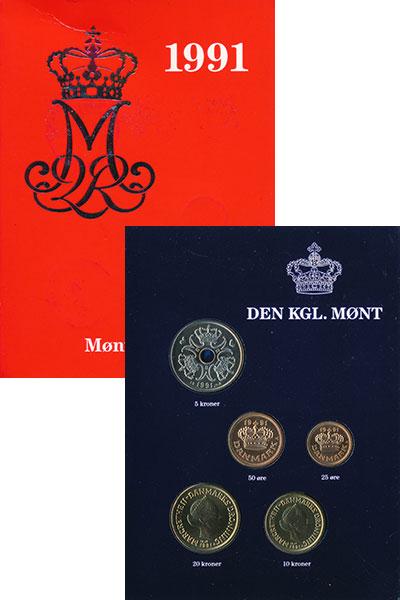 Изображение Подарочные монеты Европа Дания Набор 1991 года 1991  Proof