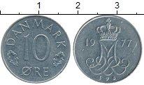Изображение Монеты Дания 10 эре 1977 Медно-никель XF Маргарет II