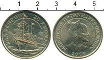 Изображение Монеты Дания 20 крон 2008 Латунь UNC- Корабль Dannebrog