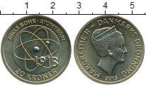 Изображение Монеты Дания 20 крон 2013 Латунь UNC- Нильс Бор