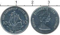 Изображение Монеты Карибы 10 центов 2000 Медно-никель XF