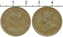 Изображение Монеты Западная Африка 1 шиллинг 1920 Латунь XF