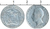 Изображение Монеты Эквадор 50 сентаво 1928 Серебро VF