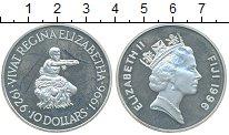 Изображение Монеты Фиджи 10 долларов 1996 Серебро Proof-