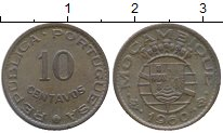 Изображение Монеты Мозамбик 10 сентаво 1960 Бронза XF