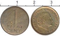 Изображение Монеты Нидерланды 1 цент 1961 Бронза XF