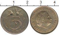 Изображение Монеты Нидерланды 5 центов 1961 Медно-никель XF Юлиана