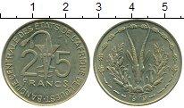 Изображение Монеты Западная Африка 25 франков 1979 Латунь XF Золотая гиря народа