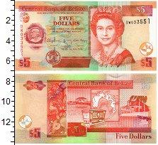 Изображение Банкноты Северная Америка Белиз 5 долларов 2016  UNC