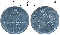 Изображение Монеты Бразилия 5 сентаво 1967 Медно-никель UNC-