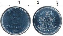 Изображение Монеты Бразилия 5 сентаво 1986 Медно-никель UNC-