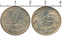 Изображение Монеты Бразилия 10 сентаво 2004 Латунь XF