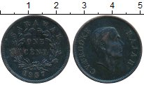 Изображение Монеты Саравак 1 цент 1937 Медь XF