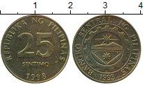 Изображение Монеты Филиппины 25 сентим 1998 Латунь XF
