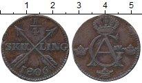 Изображение Монеты Швеция 1/4 скиллинга 1806 Медь XF-