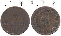Изображение Монеты Швеция 1/2 скиллинга 1801 Медь VF+