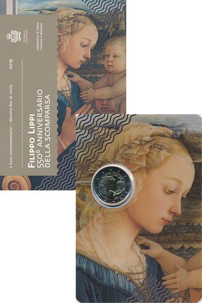 Изображение Подарочные монеты Европа Сан-Марино 2 евро 2019 Биметалл UNC