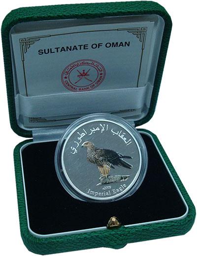 Изображение Подарочные монеты Азия Оман 1 риал 2009 Серебро Proof