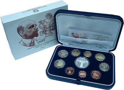 Изображение Подарочные монеты Италия Евронабор 2013 2013  Proof