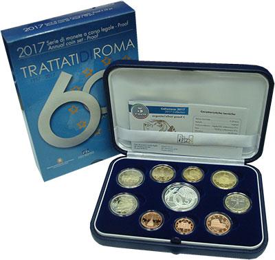 Изображение Подарочные монеты Европа Италия Евронабор 2017 2017  Proof