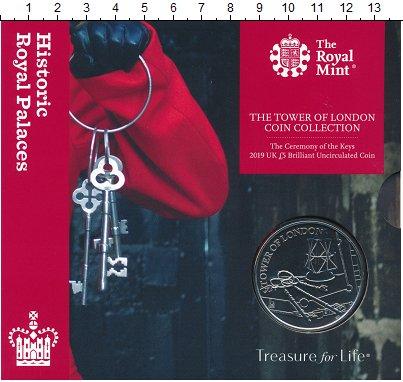 Изображение Подарочные монеты Великобритания 5 фунтов 2019 Медно-никель BUNC