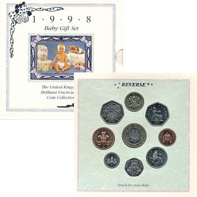 Изображение Подарочные монеты Европа Великобритания Набор 1998 года 1998  UNC