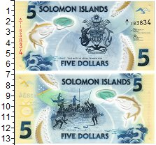 Изображение Банкноты Соломоновы острова 5 долларов 2019 Пластик UNC