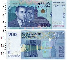 Изображение Банкноты Марокко 200 дирхам 2002  UNC