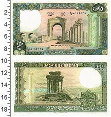 Изображение Банкноты Ливан 250 ливров 1988  UNC