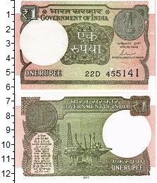 Изображение Банкноты Индия 1 рупия 2017  UNC