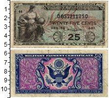 Изображение Банкноты Северная Америка США 25 центов 1951  VF