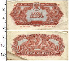 Изображение Банкноты Польша 2 злотых 1944  VF+ Советские войска