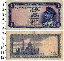 Изображение Банкноты Бруней 1 доллар 1967  VF