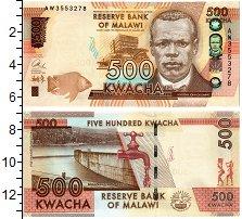 Изображение Банкноты Малави 500 квач 2014  UNC Дамба