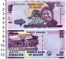 Изображение Банкноты Малави 20 квач 2016  UNC